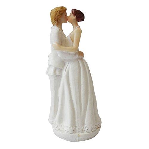 MeterMall Lanlan Caucasian Tender Moment Figura 5,9Pulgadas romántico Gay Lesbiana Boda decoración para Tarta para