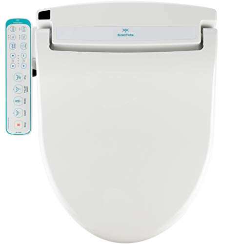 BidetMate 1000 Series Electric Bidet Heated Smart Toilet Seat with Heated Water, Side Panel Remote, and Heated Dryer - Adjustable and Self-Cleaning - Fits Elongated Toilets