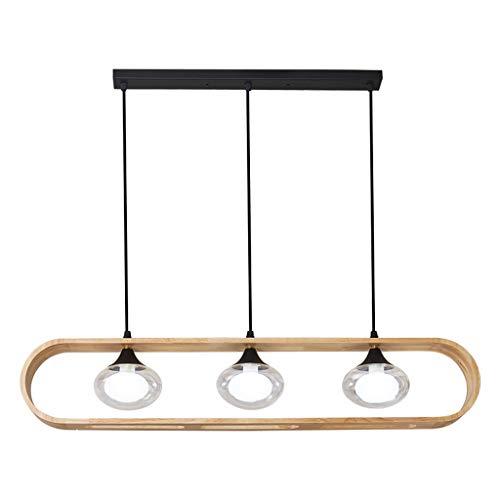ZRWZZ Araña Sencilla, Creativo Creativo 3 Lámpara De Madera Maciza Cuerpo G9 Fuente De Luz 5W Luz Colgante, Dormitorio De Corredor Sala De Estar Lámpara De Techo Decorativa