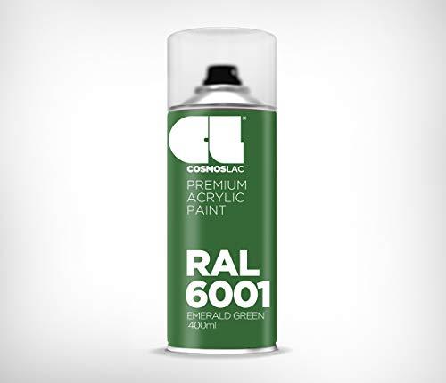 Cosmos LAC Acryllack Sprühdose, glänzend - Sprühlack Farbspray DIY Lackspray Sprühfarbe Sprühdose (RAL 6001 - smaragdgrün)