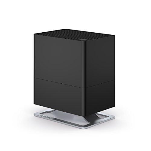 Stadler Form Luftbefeuchter Oskar little, energiesparender Raumbefeuchter für Räume bis 30 m², leiser Verdunster mit Abschalt-Automatik, dimmbare LEDs, schwarz