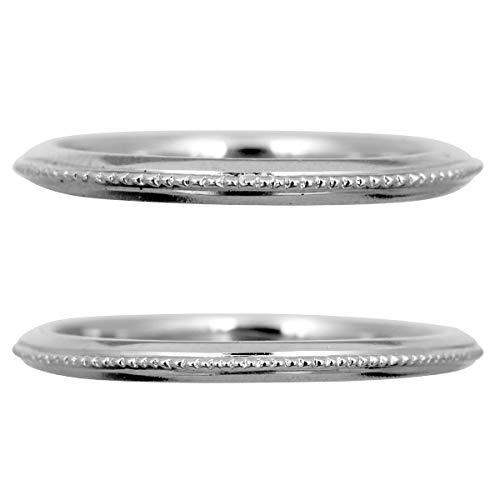 [ココカル]cococaru ペアリング 結婚指輪 プラチナ Pt900 2本セット マリッジリング 日本製 (レディースサイズ4号 メンズサイズ9号)