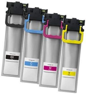 Printing Saver T9451-T9454 (T945) SCHWARZ (1) Cyan (1) Magenta (1) GELB (1) Tintenpatronen kompatibel für Epson Workforce Pro WF-C5210DW WF-C5215DW WF-C5290DW WF-C5710DWF WF-C5790DW WF-C5790DWF