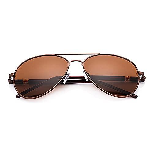 BEIAKE Gafas De Sol Luz Polarizada Gafas De Hombre Gafas De Sol De Protección UV De Marco Adecuado para Ciclismo, Correr, Viajar, Playa, Gafas De Manejo,Marrón