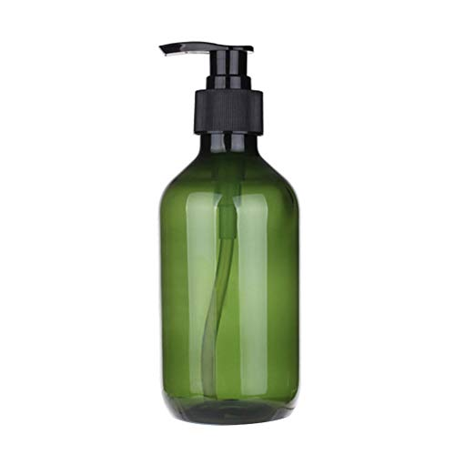 Polytree 300ml Soap Dispenser Bottles Plastic Countertop Lotion-Soap Pump Bottles for Liquid Shampoo Soap Hand Dispensers Kitchen and Bathroom Green