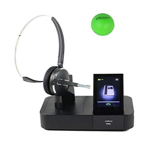 Jabra Pro 9460 Single Speaker Wireless Headset for Desk Phone & Computer Bundle with Renewed Headsets Stress Ball (Renewed)