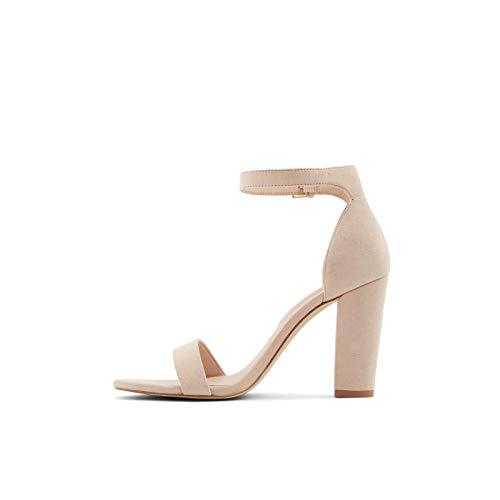 ALDO Jerayclya - Sandalias de tacón para mujer, color Beige, talla 5