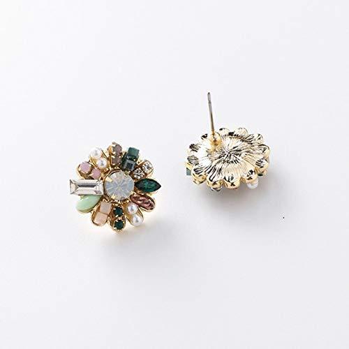 QIN Orecchini Vintage Coreani Orecchini Simulati Perline Perline Orecchini a Spirale a Spirale a Mano Pendolo Ragazza orecchi Gioielli Gioielli