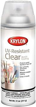 Krylon UV Resistant Acrylic Coating Spray 11 Ounces Clear 1305  2-Pack