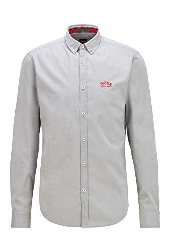 BOSS Biado_r Camisa, Verde Oscuro (305), XL para Hombre
