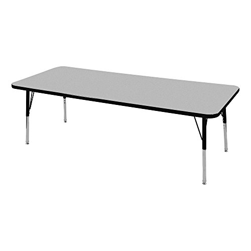Norwood Commercial Furniture Adjustable-Height Rectangle Activity Table, 30