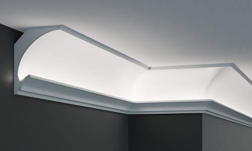 EL200 - Veletta per luce indiretta diffusa led a soffitto da incasso nel cartongesso o in superficie al muro
