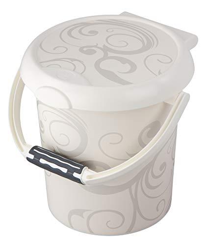 Rotho Baby Design Poubelle à Couches Vintage Style! , Anneau de Retenue pour Sacs Hygiéniques, 11L, À partir de 0 Mois, StyLe!, Blanc, 202150195AJ
