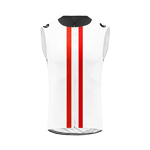 Uglyfrog Funktions Fahrradtrikot Ärmellos - Radtrikot Jersey Radshirt - Bikeshirt MTB mit Taschen - Atmungsaktiv - Schnelltrocknend - Reißverschluss Durchgehend - Reflektoren