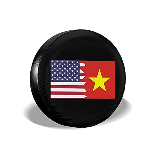 WCHAO American Vietnam Flag Ersatzreifenbezüge Universal Fit