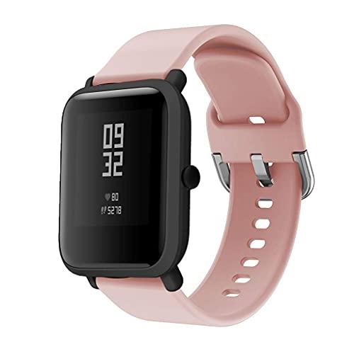 Pulsera Compatible con Amazfit Bip /lite Banda Correa de Silicona/Ajustable para Smartwatch Reemplazo de Correa Compatible con GTS (Rosa)