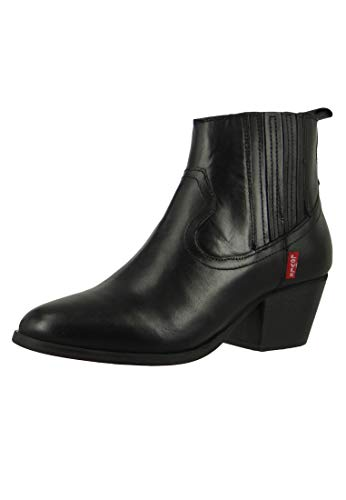 Levis Western Folsom 228755-700-59 Damen Ankle Boot Stiefelette Regular Black Schwarz, Groesse:37 EU / 4.5 UK / 6 US