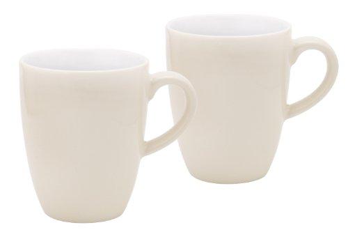 Kahla 47A180A72263C Pronto Colore elfenbein | Porzellan Becher Geschirr | Kaffeebecher-Set 2 teilig Pronto Tasse 300 ml rund 2 Personen