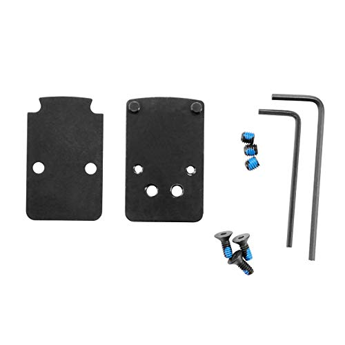 DPP Titanium Mounting kit/Plate/Adapter Compatible with Glock Trijicon RMR/SRO&Holosun 407C/507C/508T (Titanium)