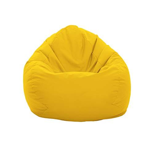 GlueckBean Gamer Pouf poire Tailles XXXL XXL XL Grande fauteuil de salon pour intérieur et...