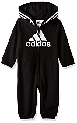 adidas Girls and Baby Boys' Coverall, Black, 9 Months