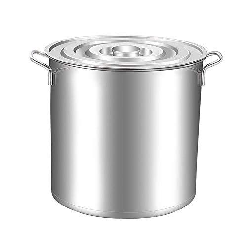 Heavy Pentola in Acciaio Inox, scorte in Acciaio Inox, Catena per stufato zuppa di zuppa Pan per immagazzinata e riscaldata (Size : 45 * 44cm)
