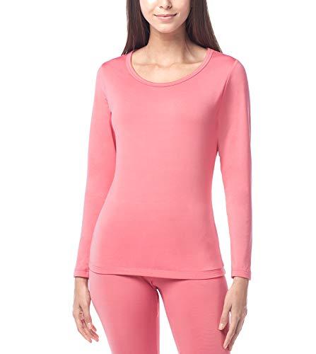 LAPASA Women's Lightweight Thermal Underwear Top Fleece Lined Base Layer Long Sleeve Shirt L15