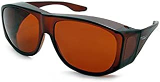 Solar Shield Fits-Over SS Polycarbonate II Amber Sunglasses, 50-15-125mm