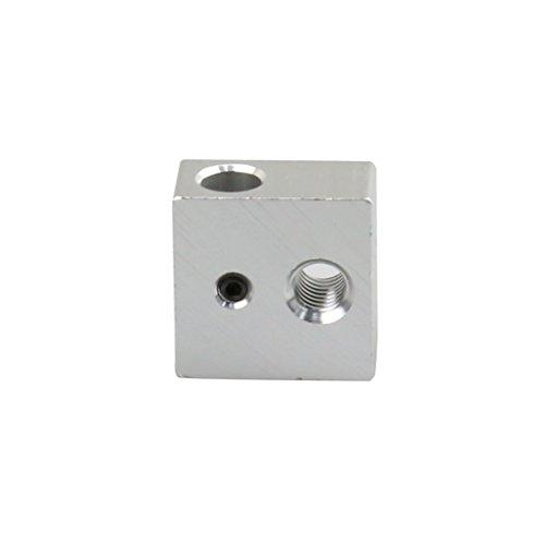 Guangcailun 5Pcs Alluminio Blocco riscaldatore Riscaldamento Stampa Gruppo Testa per Stampante Makerbot MK7 MK8 3D estrusore Accessori