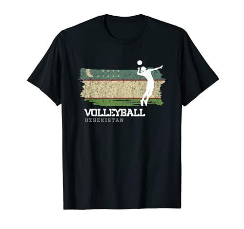 Voleibol Uzbekistán Bandera Chicas Voleibol Mujeres Camiseta