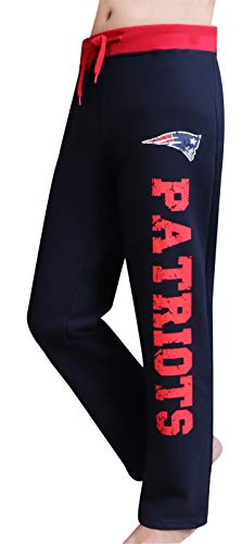 LockQ Womens Sporty Pants Patriots Sweatpants Lounge Trousers - Navy & Red (Size:S)