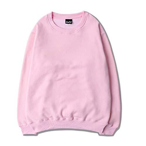 Jersey Holgado para Hombres y Mujeres, suéter Informal de Cuello Redondo de Manga Larga de Color sólido de Estilo Simple de otoño