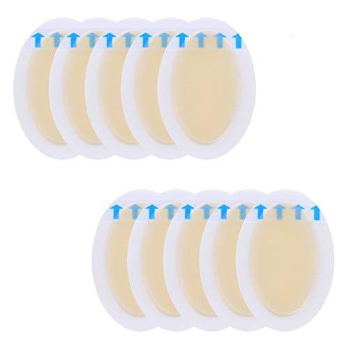 Yuema Blase Bandagen 10er wasserdichte Hydrokolloid-Bandagen für Fuß, Zehen und Ferse Blasenbildung, Schutz für die Ferse und hohe Absätzelieber 37x55mm