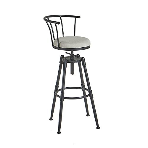Sedia da bar girevole regolabile in altezza, sgabello da bar per isola cucina, sala da pranzo e bar, girevole a 360 gradi, portata massima fino a 200 kg, altezza regolabile 70-90 cm, 1 confezione