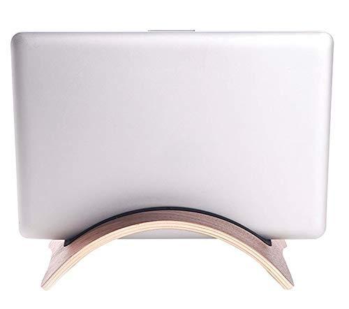 DONGYAO Soporte para ordenador portátil, soporte para tableta de teléfono, soporte de madera curvado, para tablet PC y portátil (color marrón), marrón (color: marrón)
