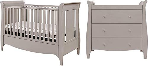 Solid Wood Furniture, Nursery Crib Furniture Design Suits Small Chest of Drawers Crib Adjustable Bed,Clear