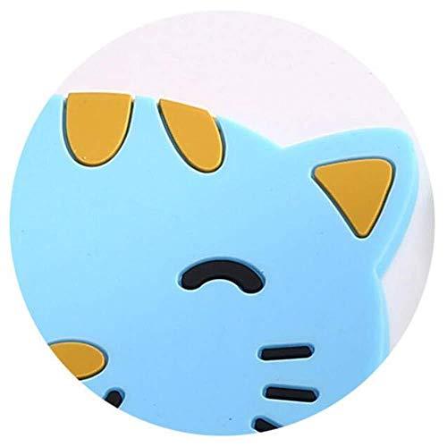 qingtianlove Coasters Cute Animal Coaster Colorful Silicone Cup Porte-boisson Pad Vaisselle Set de Table Moderne, USA, Vert, Bleu, États-Unis