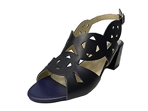 Melluso K35135 sandalo donna con tacco (BLU, numeric_36)