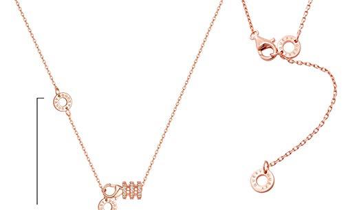 Collar De Oro Rosa De 18 Quilates Diseño De Plata Esterlina Femenina Sentido Cintura larga + oro rosa