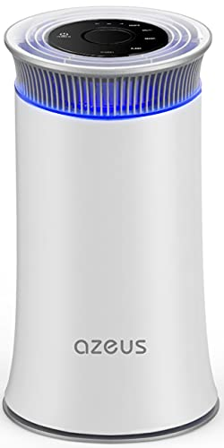 AZEUS H13 True HEPA air purifier for Home, Large Rooms to 430ft², remove 99.97% for Allergies, Pollen, Smoke, Dust, Pet Dander and Asthma, Quiet, Night Light