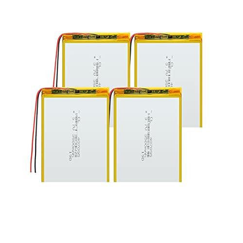 4pcs Batería Recargable De Iones De Litio De PolíMero De 3.7v 407095...