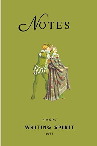 Carnet de notes : Fantaisie illustration: Cahier de notes sur papier crème couverture verte – notebook – journal de bord - 102 pages lignées - format A5 – idée cadeau.