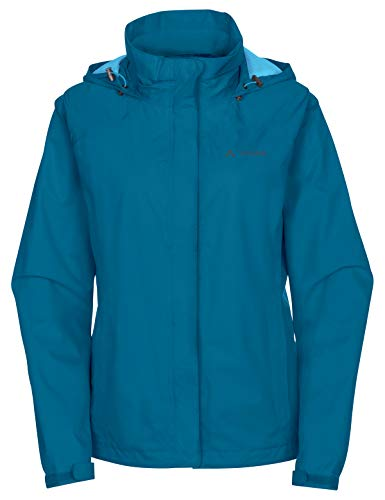 VAUDE Damen Escape Bike Light Jacket Regenjacke zum Radfahren, kingfisher, 38, 049923320380