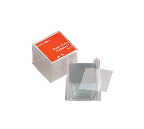 Corning 2845-22 Borosilicate Glass Square #1 Cover Glass, 22mm L x 22mm W (Case of 2000)