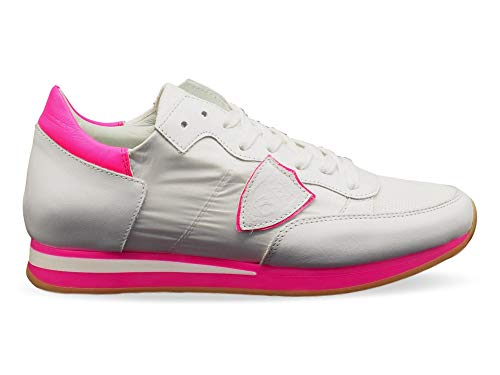 Philippe Model Luxury Fashion Donna TRLDNV03 Bianco Pelle Sneakers | Stagione Outlet