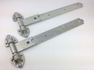 Qazxsw Cerniere per cancelli reversibili Wyre Direct 450mm 18', Coppia, zincate, per impieghi gravosi, stabili