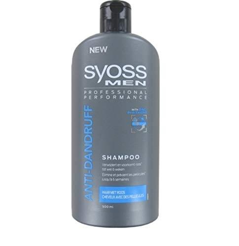 6 x Syoss Men Shampoo - Anti dandruff (Anti-Schuppen) - 500 ml