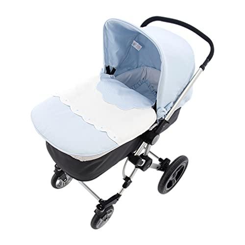 Saco para Capazo Rosy Fuentes - Saco para Bebé Universal - Saco tres usos - Funda para capazo de bebé-0-celeste