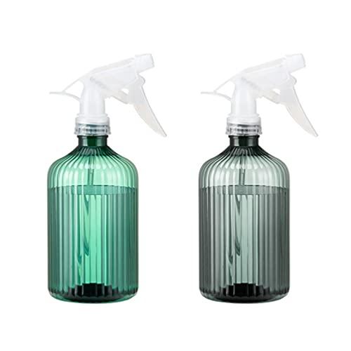 Hemoton 2Pcs 500Ml Pflanzen Sprühflasche Wassersprüher Pflanzensprüher Kunststoff Pumpe Sprüher Blume Wasser Spray Flasche für Reinigung Zimmerpflanzen Garten Bewässerung