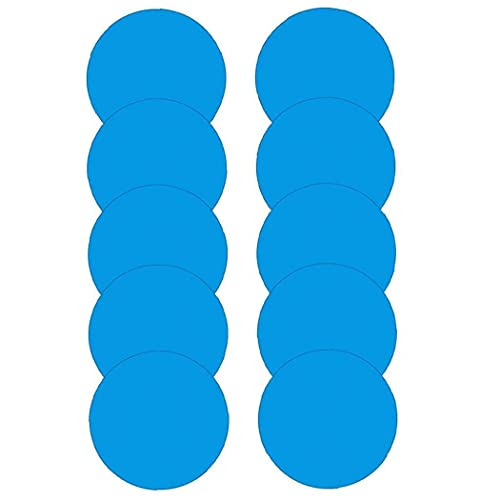 Odoukey Zelfklevende reparatie patches Pool Reparatie Patches Ronde PVC Reparatie Kit voor Waterbed Pool Paddling 10…